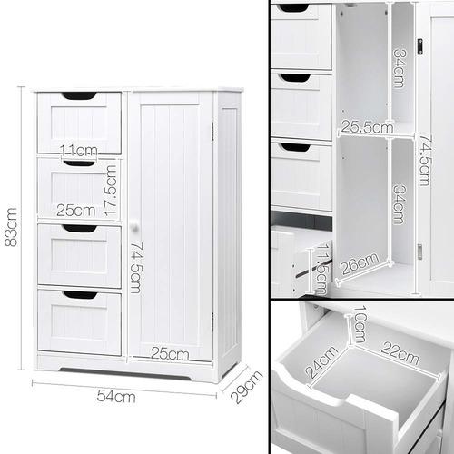 Dwell Home White Tallboy Storage Cabinet