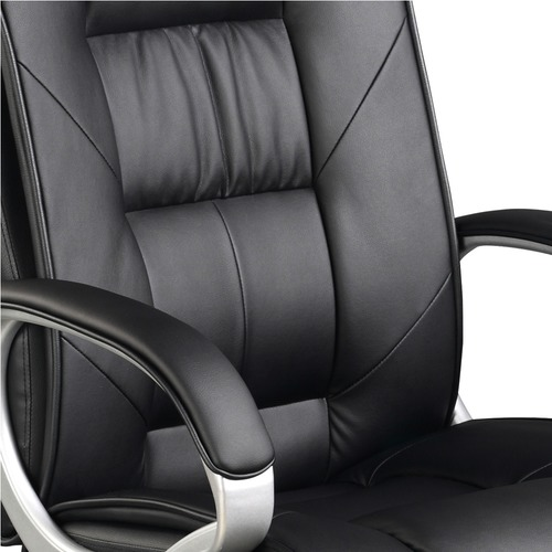 Dwell Home Black Swivel Executive Faux Leather Office Chair
