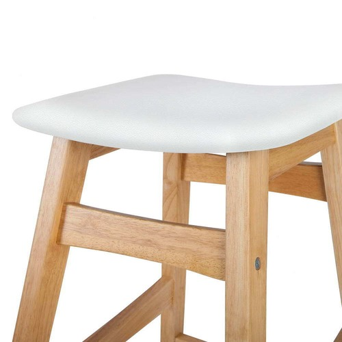 Dwell Home White Modern Perry Barstools