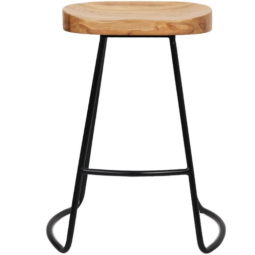Dwell Home 65cm Vintage-Style Elm Wood Counter Stools