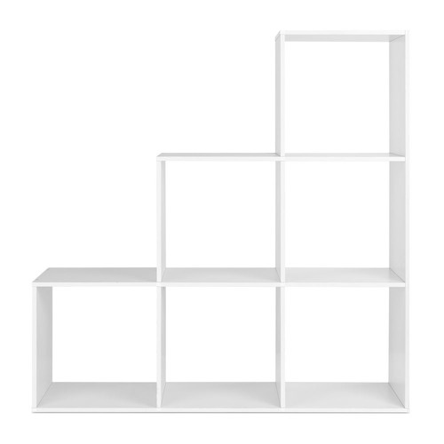 Dwell Home White 6 Cube Staircase Display Shelf