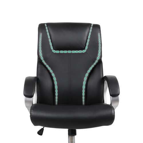 Dwell Home Black Marwan Faux Leather Office Chair