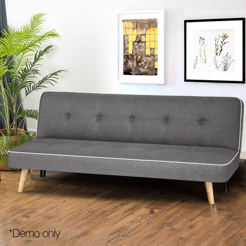 Dwell Home Grey 3 Seater Fabric Sofa Bed