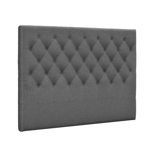 Dwell Home Grey Button Tufted Headboard