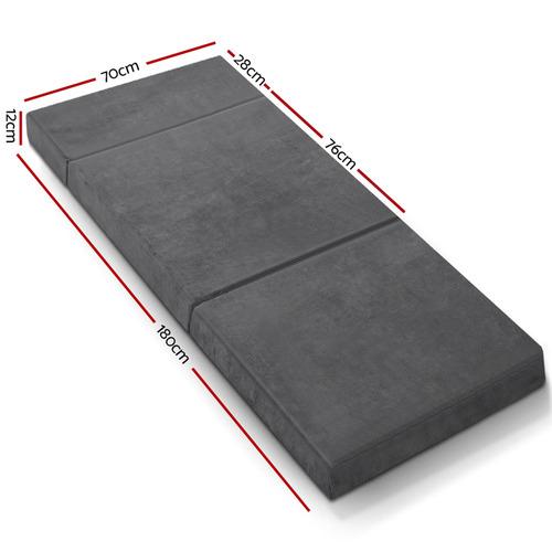 Dwell Home Folding Portable Velvet & Foam Mattress