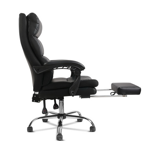 Dwell Home Black Aston Faux Leather Office Chair