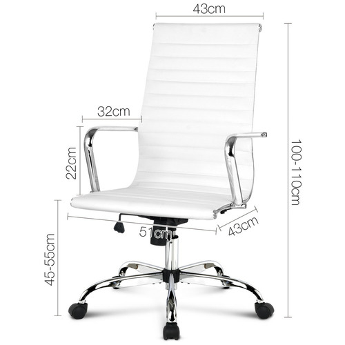 Dwell Home Raleigh High Back Office Chair