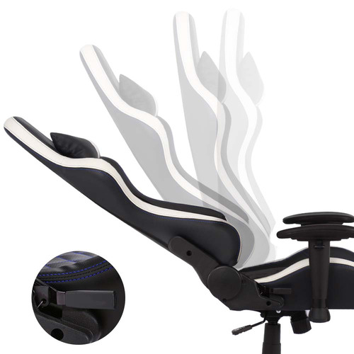 Dwell Home Black & White Melvin Faux Leather Gaming Chair