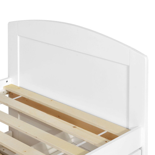 Dwell Home White Duncan Single Trundle Bed Frame
