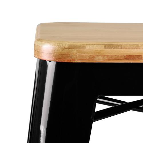Dwell Home 66cm Tolix Replica Bamboo Barstools