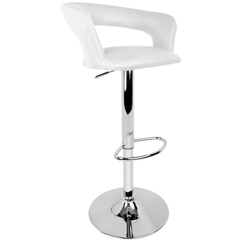 White Illahia Faux Leather Kitchen Barstools Temple Webster