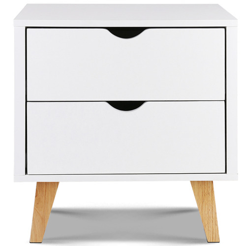 Dwell Home Sherie 2 Drawer Wooden Bedside Table