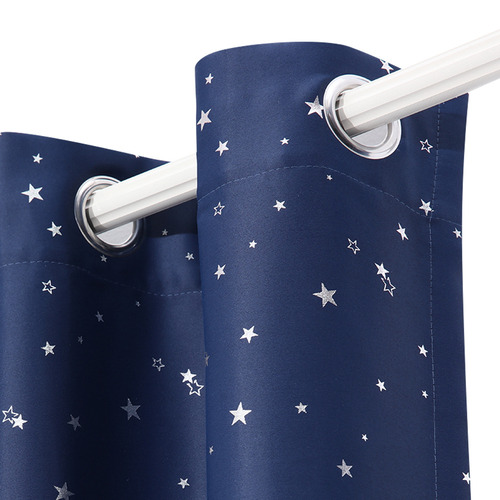 Dwell Home Navy Art Queen Star Blockout Curtains