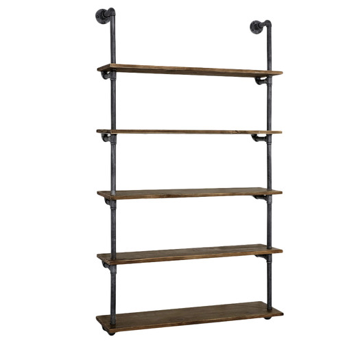 Dwell Home Amis Rustic Industrial Pipe Floating Shelf