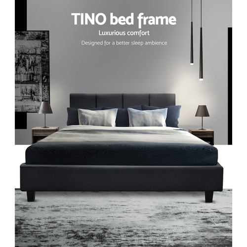 Dwell Home Charcoal Tino Wooden Bed Frame