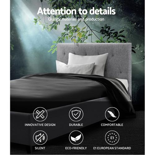 Dwell Home Grey Vanke Single Bed Frame