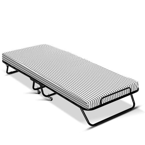Dwell Home Black Elbee Metal Folding Bed