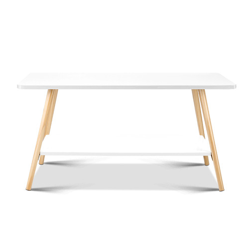 Dwell Home White Kevlar Wooden Coffee Table