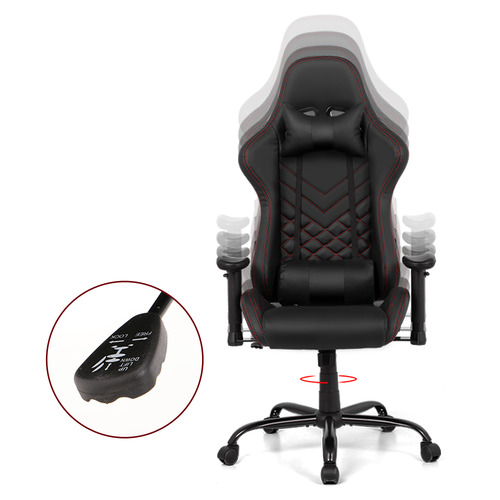 Dwell Home Black Linden Magnum Faux Leather Gaming Chair