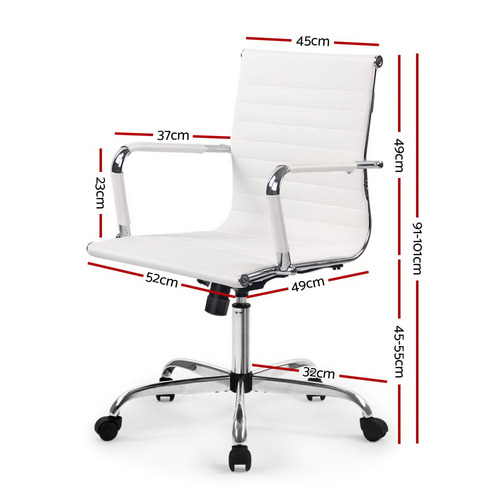 Dwell Home Eames Replica Mid-Back Faux Leather Office Chair