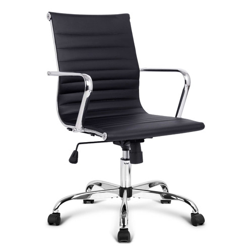 Dwell Home Eames Replica Faux Leather Swivel Office Chair