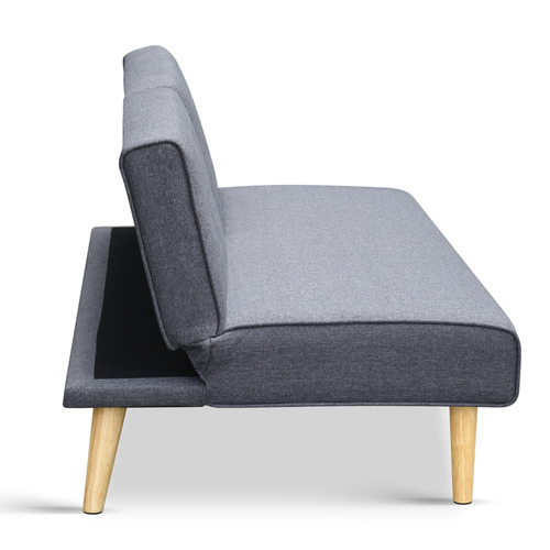 Dwell Home Grey Puth 3 Seater Sofa Bed