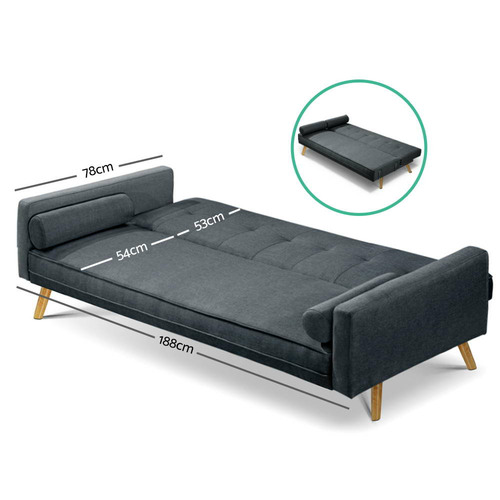 Dwell Home Trainor 3 Seater Sofa Bed