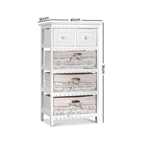 Dwell Home White Reeana 3 Basket Storage Cabinet