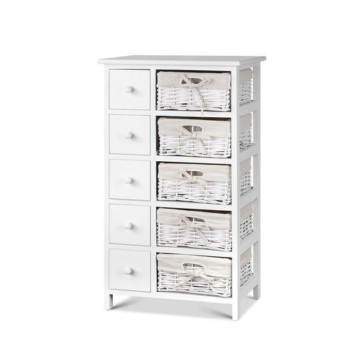 Dwell Home White Reeana 10 Drawer Storage Cabinet