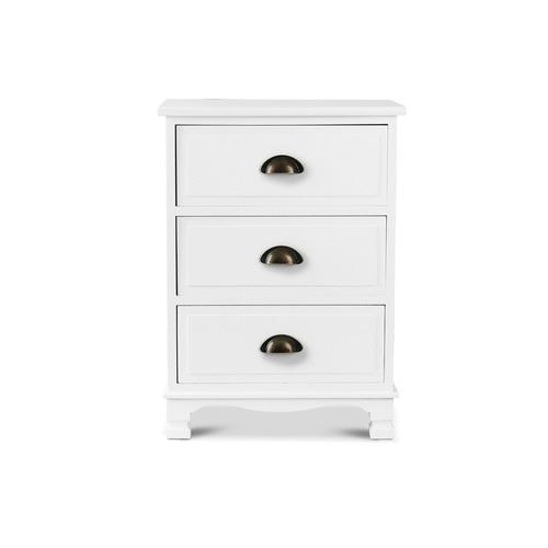 Dwell Home Jilliane 3 Drawer Wooden Storage Cabinet
