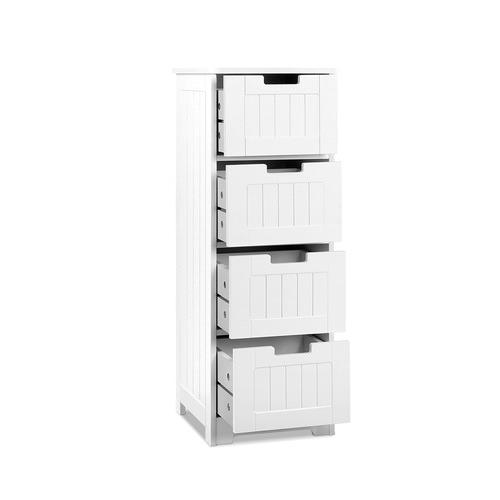 Dwell Home White Figaro 4 Drawer Storage Cabinet