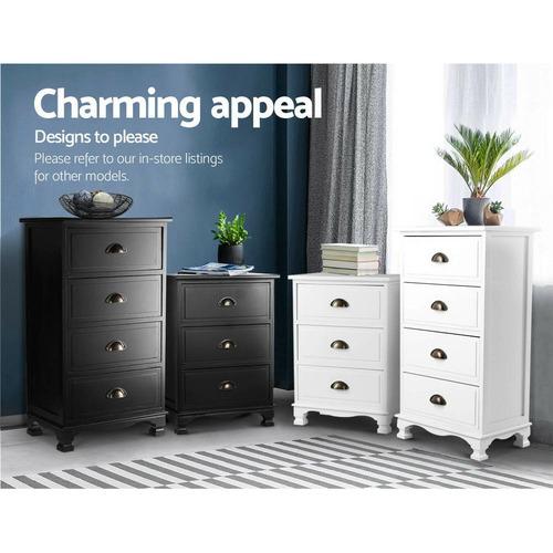 Dwell Home Jilliane 4 Drawer Wooden Storage Cabinet