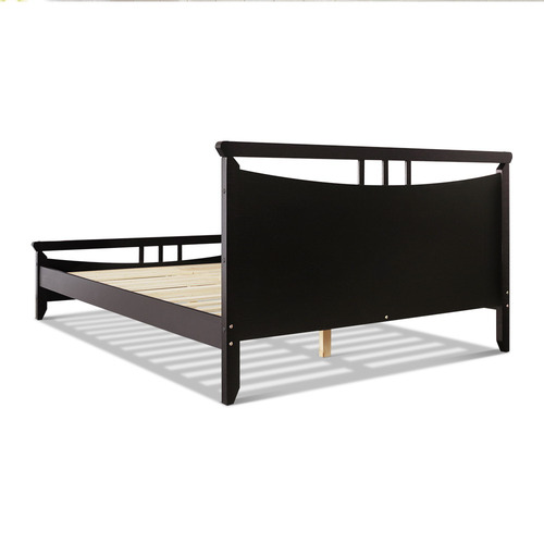 Dwell Home Dark Cherry Nagaraya Wooden Bed Frame