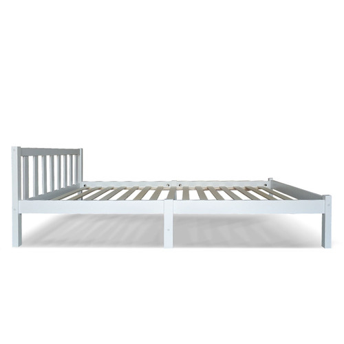 Dwell Home White Billie Wooden Bed Frame