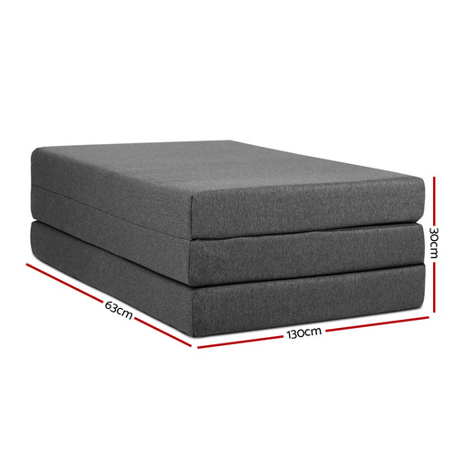 Dwell Home Dark Grey Giselle Bedding Fold-Out Mattress