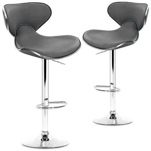 Dwell Home Disa Adjustable Premium Faux Leather Barstools