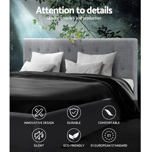 Dwell Home Grey Vane Upholstered King Bed Frame