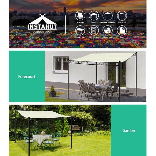 Dwell Home 255cm x 300cm Garou Flat Canopy Gazebo