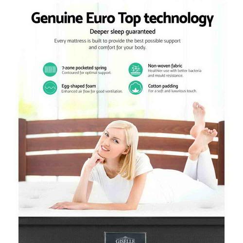 Dwell Home Medium Geisler 7 Zone Euro Top Mattress