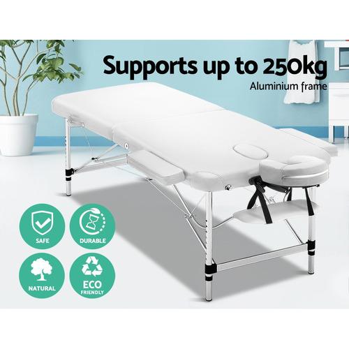 Dwell Home White Zensor Double Fold Massage Table