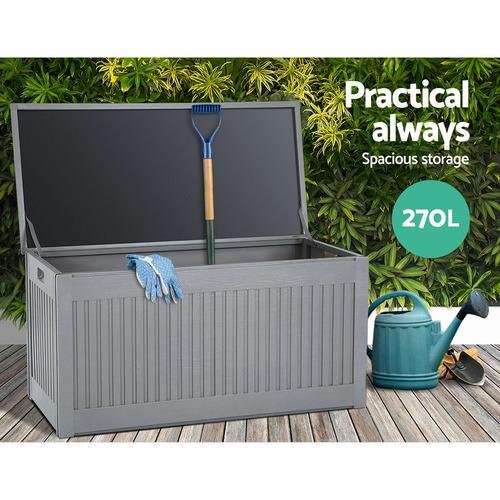 Dwell Home Grey Gerdenia Outdoor Storage Box