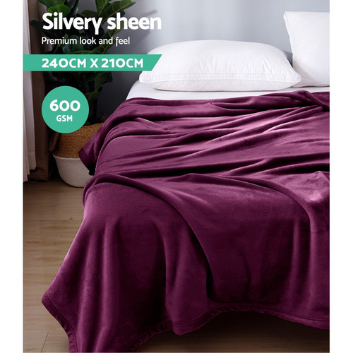 Dwell Home Giselle Bedding 600GSM King Faux Fur Blanket