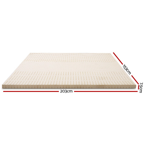 Dwell Home Beige Giselle Bedding 7 Zone Latex Queen Mattress Topper