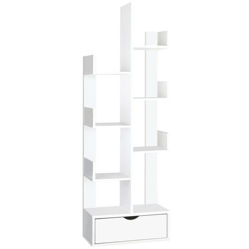 Dwell Home White Bianca 6 Tier Bookshelf