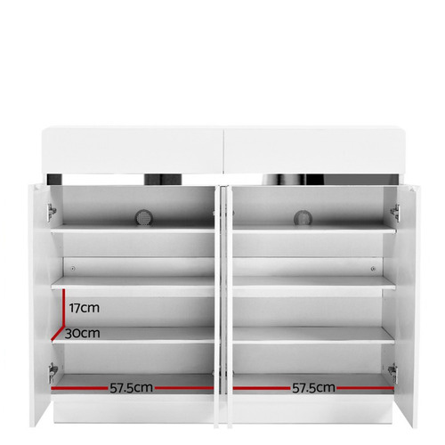 Dwell Home White Lucas Shoe Cabinet