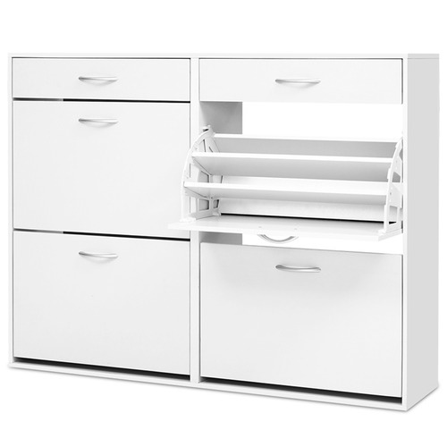 Dwell Home White Marva Shoe Cabinet