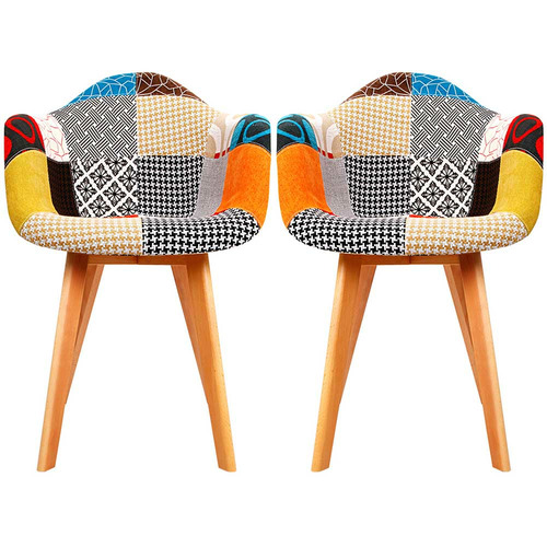 Dwell Home Eames Replica Patchwork Dining Arm Chairs