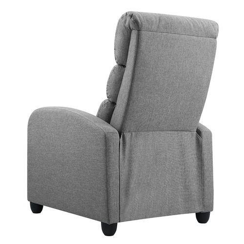 Dwell Home Grey Oswald Fabric Recliner Chair