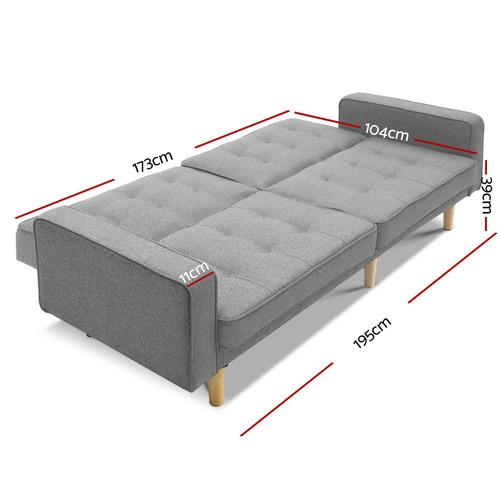 Dwell Home Jovian Plush Sofa Bed