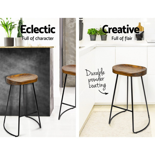 Dwell Home 75cm Industrial Moulded Backless Barstools
